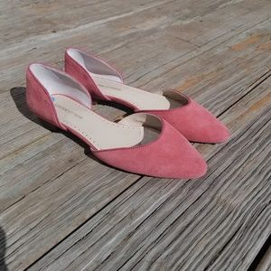 Adrienne Vittadini Pink Leather D'orsay Shoes 7.5